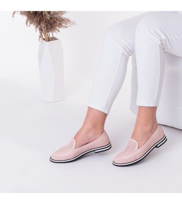 Туфлі жіночі шкіряні світлі Phany