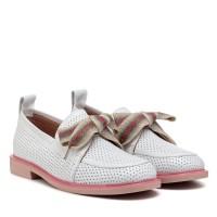 Туфли женские белые кожаные летние Evromoda