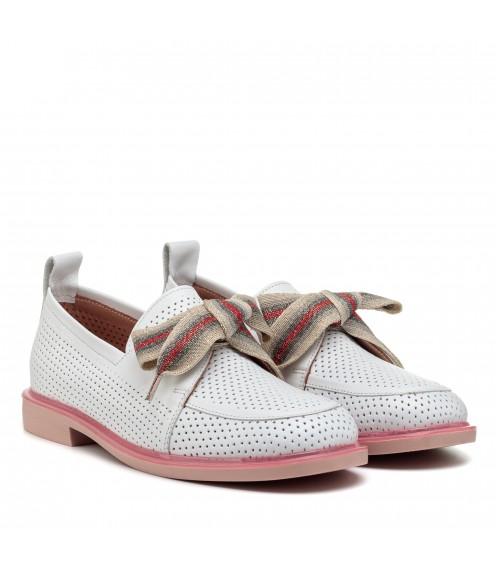 Туфлі жіночі білі шкіряні літні Evromoda