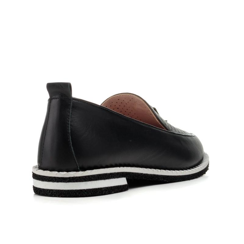 Туфлі жіночі чорні шкіряні Evromoda