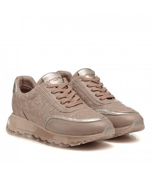 Кросівки шкіряні бежеві Alpino