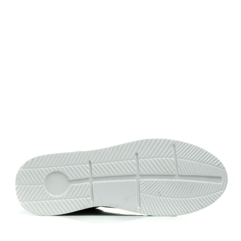 Туфлі жіночі  мятні на шнурках літні Magnolya