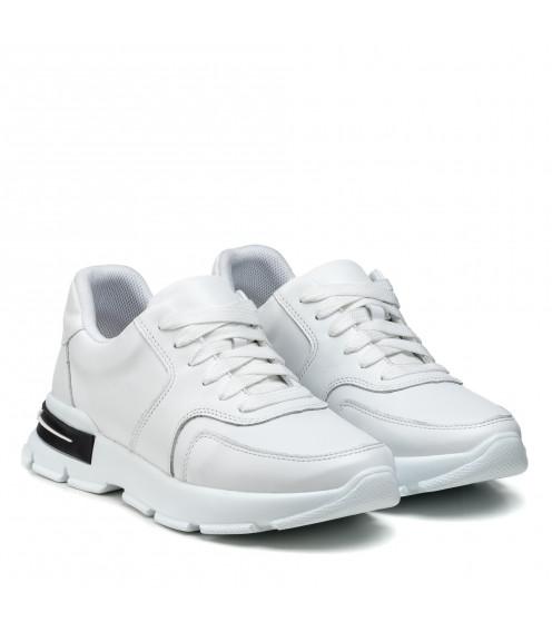 Кросівки жіночі шкіряні білі спортивні Kento
