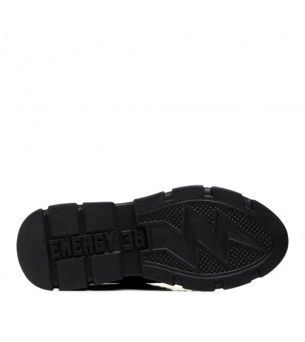 Кросівки жіночі шкіряні чорні спортивні Kento