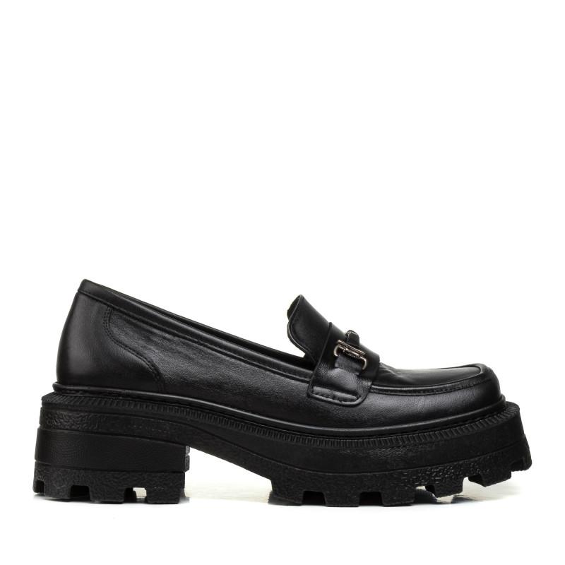 Туфлі жіночі шкіряні чорні Guero