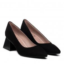 Туфли женские замшевые черные Aquamarin