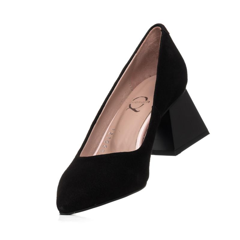 Туфлі жіночі замшеві чорні  Aquamarin