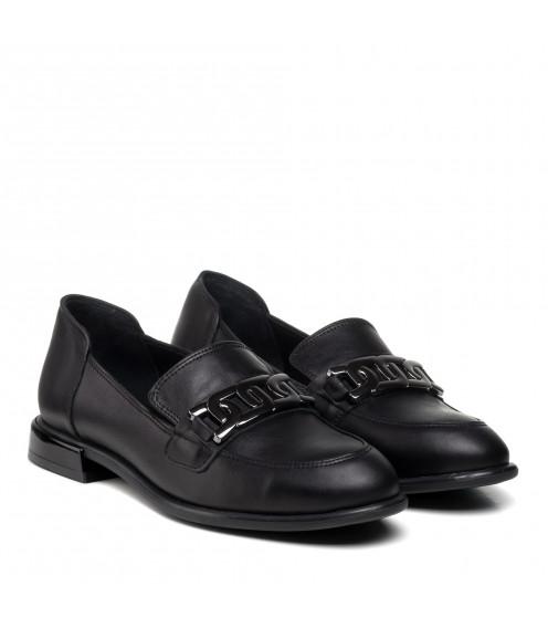 Туфлі жіночі шкіряні на низькому ходу Aquamarin