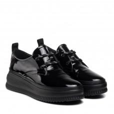 Туфли женские на платформе на шнурках EVRROMODA