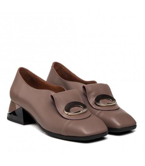 Туфлі жіночі шкіряні шкіряні капучинові Mario muzi
