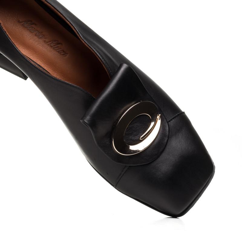 Туфлі жіночі шкіряні чорні Mario muzi