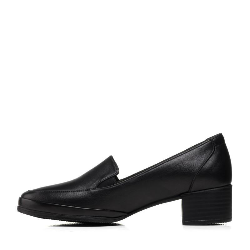 Туфлі жіночі шкіряні на товстому каблуку Mario muzi