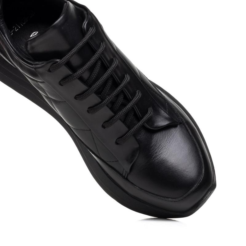 Кроссовки женские кожаные черные Mario muzi