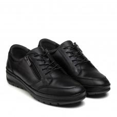 Туфли женские кожаные без каблука теплые VOYAGER