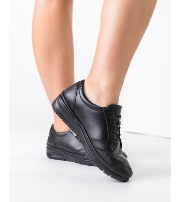 Туфлі жіночі шкіряні без каблука теплі VOYAGER