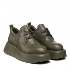 Туфли женские кожаные зеление на платформе Molly Bessa