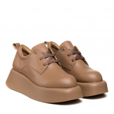 Туфли женские кожаные коричневые на платформе Molly Bessa