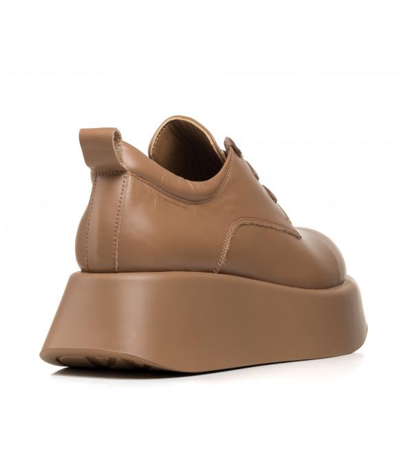 Туфлі жіночі шкіряні коричневі на платформі Molly Bessa