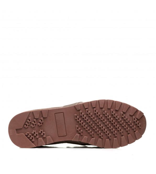 Туфлі жіночі замшеві сіро-бежеві Lonza