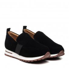 Туфли женские замшевые черные Lonza