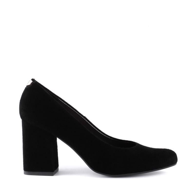 Туфлі жіночі замшеві на стійкому каблуку SALA