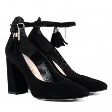 Туфли женские замшевые  на высоком каблуке Bravo Moda