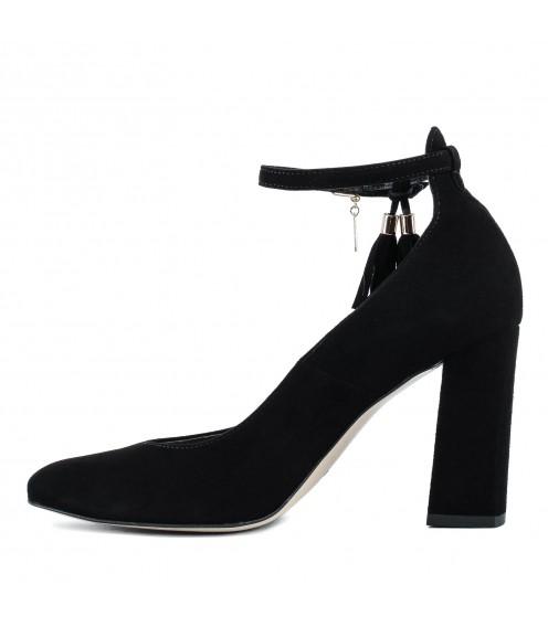 Туфлі жіночі замшеві  на високому каблуці Bravo Moda