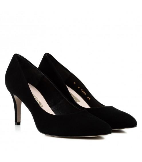 Туфлі-човники жіночі замшеві на  шпильці Bravo Moda
