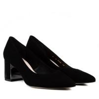 Туфли-лодочки женские замшевые на каблуке Bravo Moda