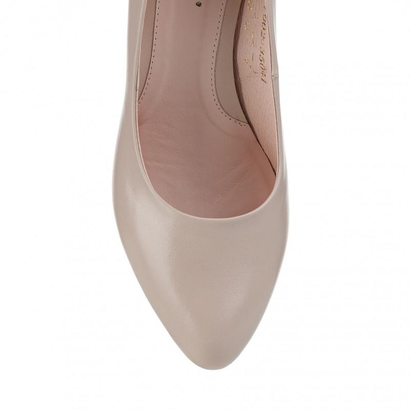 Туфлі жіночі шкіряні зручні на середньому каблуку Visconi