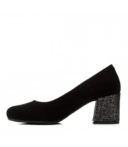 Туфлі жіночі замшеві на широкому каблуку Visconi