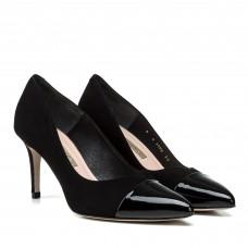 Туфли-лодочки женские замшевые на среднем каблуке Bravo Moda