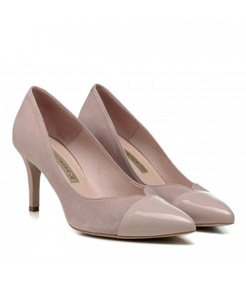 Туфлі жіночі Bravo Moda пудра на шпильці вечірні гострий з гострим носиком