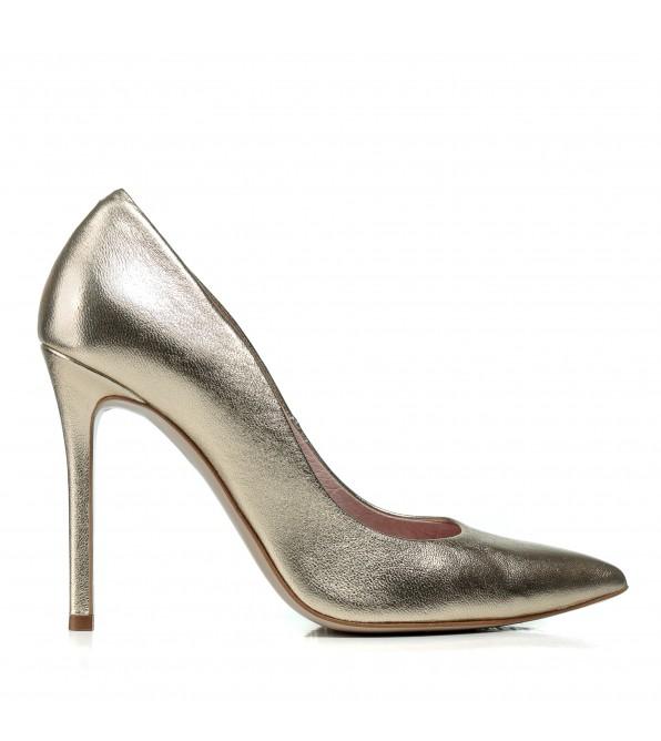 Туфлі жіночі Bravo Moda золоті на шпильці вечірні гострий з гострим носиком
