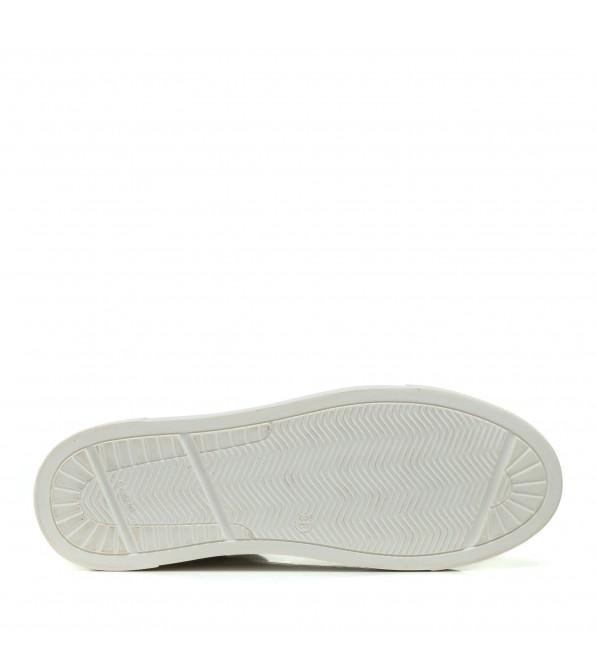 Кеди жіночі шкіряні білі на плоскій підошві Zlett