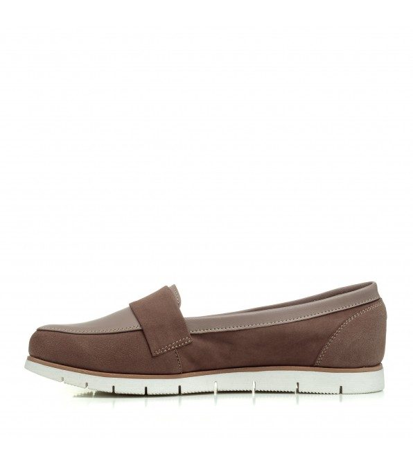 Туфлі замшеві на низькому ходу Zlett