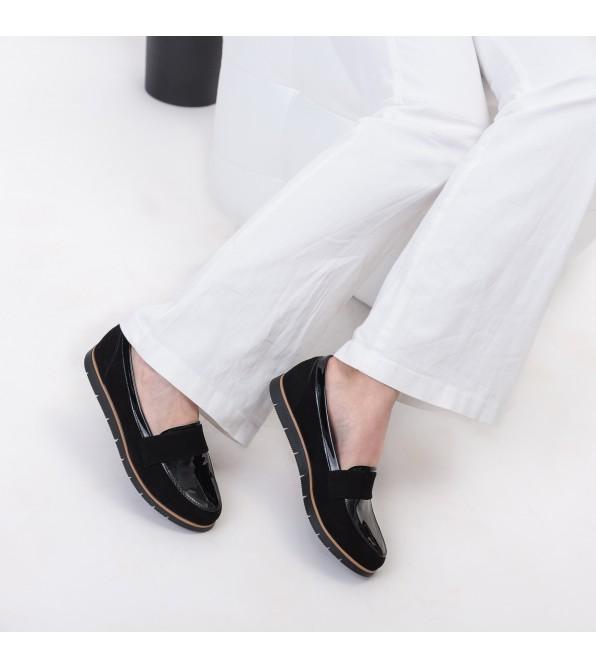 Туфлі жіночі чорні замшеві Zlett