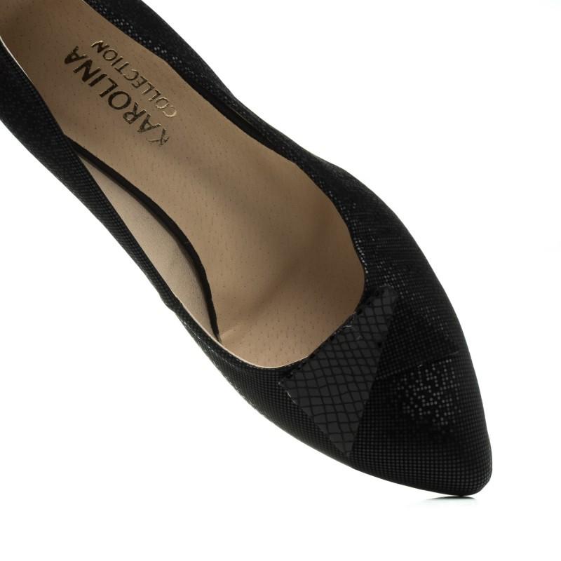 Туфлі жіночі чорні на каблуці Karolina