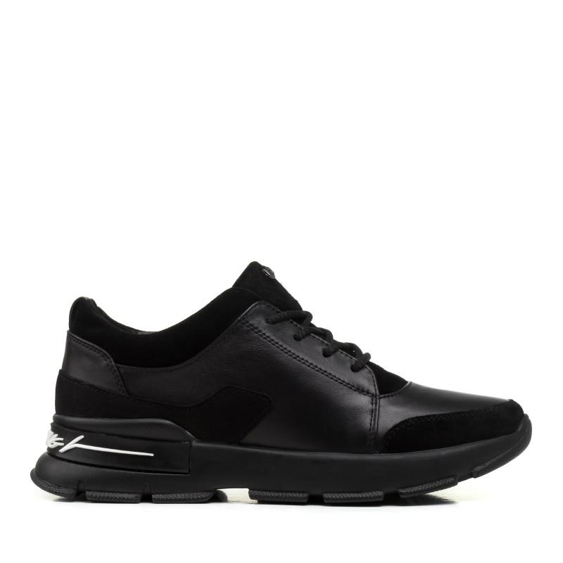 Кросівки жіночі шкіряні чорні Zumer