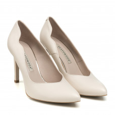 Туфлі жіночі шкіряні човники світло- бежеві Bravo Moda