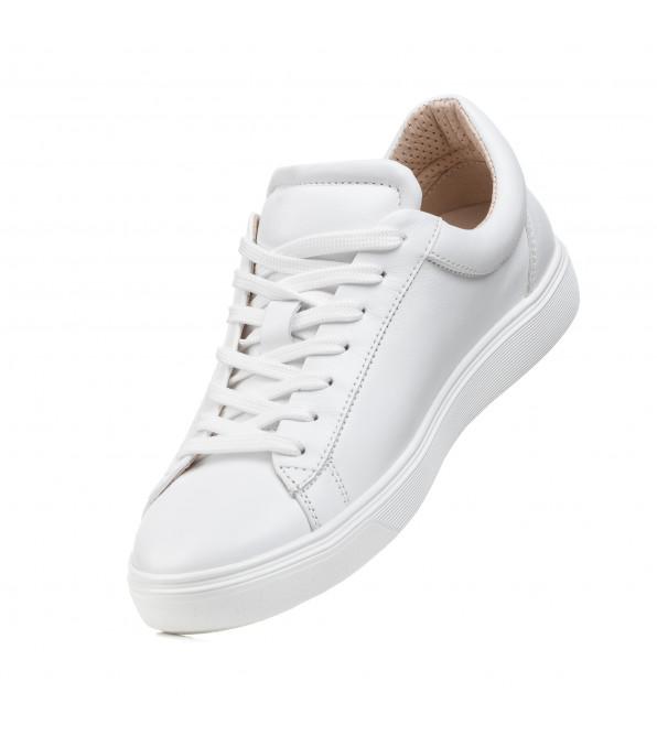 Кеды женские кожаные белые Lilla Viva