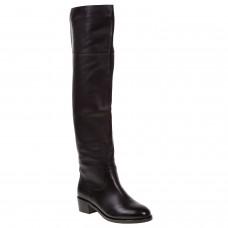 Ботфорти жіночі шкіряні чорні на каблуку BaseeRat