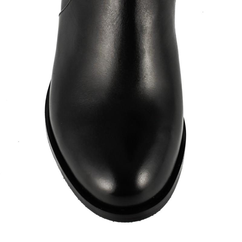 Ботфорти жіночі шкіряні на каблуку високі Djovannia