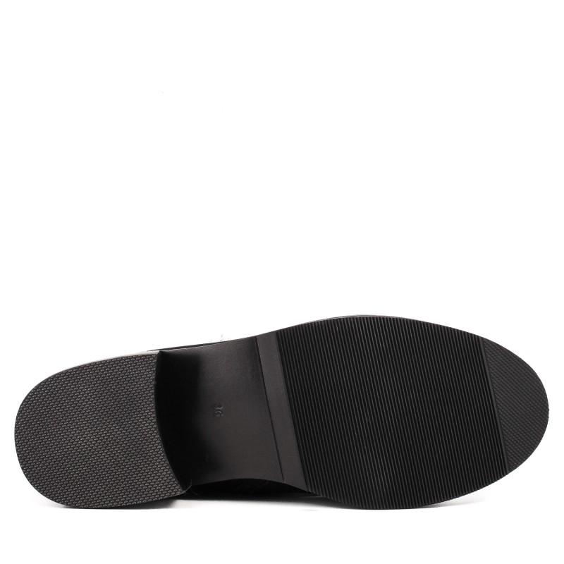Черевики жіночі шкіряні на каблуку з хутром Sufinna