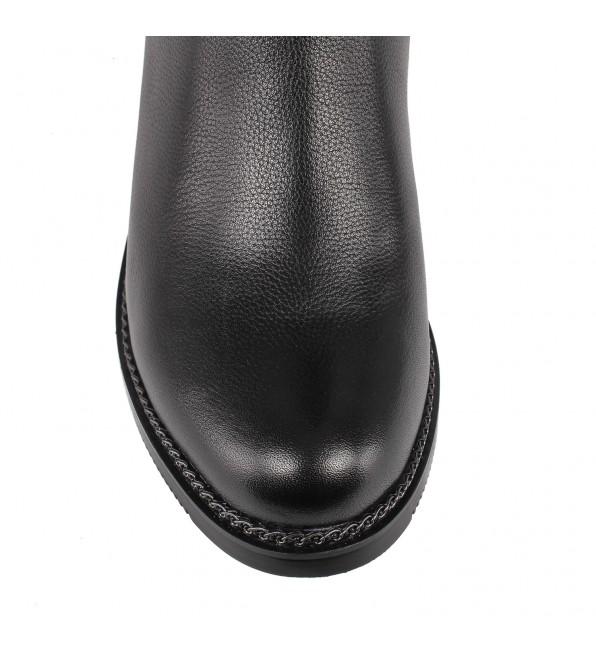 Чоботи жіночі шкіряні на каблуку Geronea