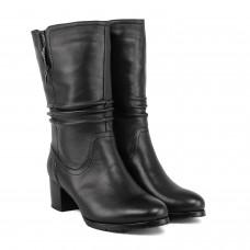 Полусапоги женские кожаные на каблуке Velly
