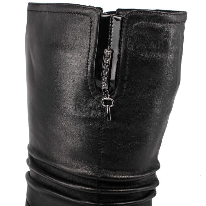 Напівчоботи жіночі шкіряні на каблуку Velly