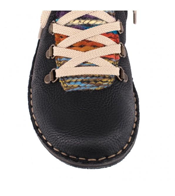 Rieker черевики жіночі на товстій підошві шкіряні