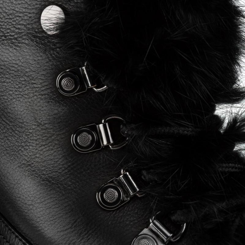 Черевики жіночі шкіряні на платформі з хутром Anemone