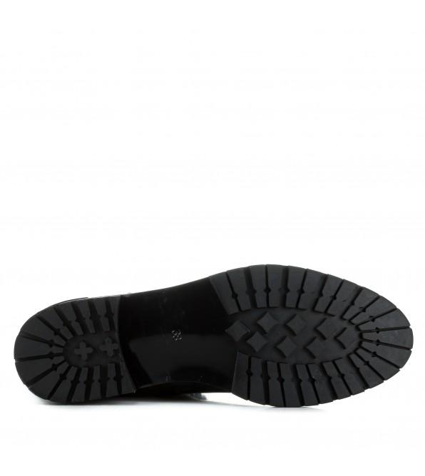 Ботфорти жіночі шкіряні на каблуку Brocoli